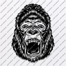 Load image into Gallery viewer, Monkey Svg File-Gorilla Svg Design-Clipart-Animals Svg File-Animals Png-Monkey Gorilla Vector Graphics-Svg For Cricut-For Silhouette-SVG-EPS-PDF-DXF-PNG-JPG-AI