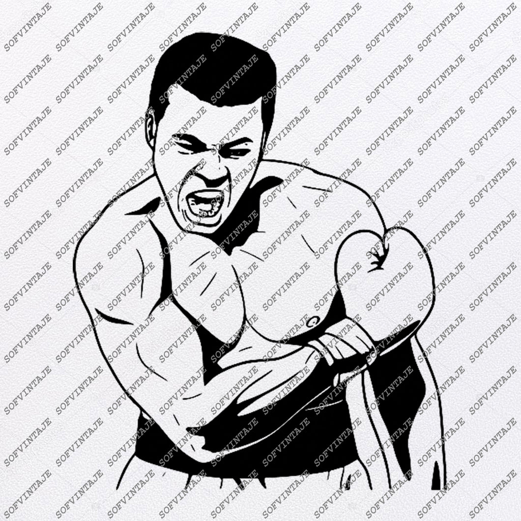 Muhammad Ali Svg -Muhammad Ali Svg - Boxing Svg-World Champion - Boxing Clip art-Top Players Svg-Svg For Cricut - Svg For Silhouette-DXF-EP