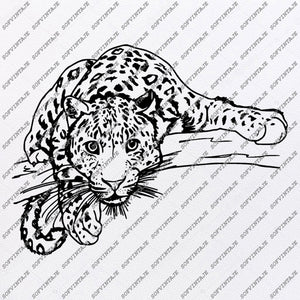 Panthera Svg File - Leopard Svg - Big Cats Svg - Wild Cats Clipart - Vector Graphics - Svg For Cricut - Svg For Silhouette - SVG - EPS - PDF - DXF - PNG - JPG - AI