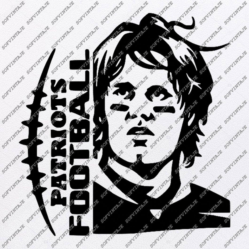 Patriots Football Svg File - Football Svg - Patriots Svg - Tom Brady Svg - Vector Graphics - Svg For Cricut - Svg For Silhouette - SVG - EPS - PDF - DXF - PNG - JPG - AI