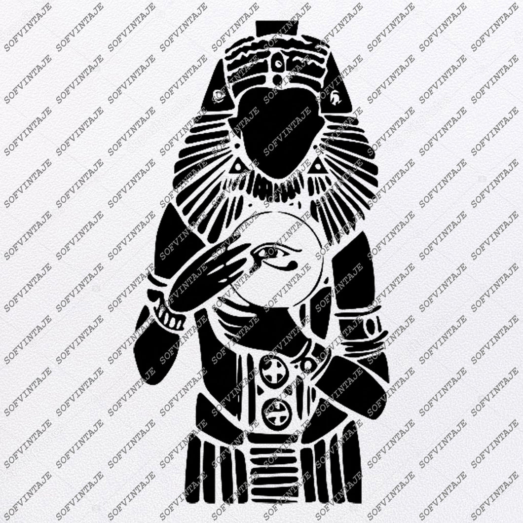 Pharaoh Svg File-Pharaoh Ancient Egypt Svg- Pharaoh Original Svg Design-Pharaoh Tattoo Svg-Clip art-Pharaoh Vector Graphics-Svg For Cricut-Svg For Silhouette-SVG-DXF-PDF-EPS-PNG-JPG-AI