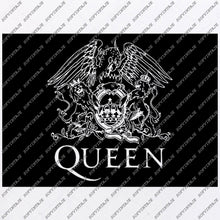 Load image into Gallery viewer, Queen Svg File- Queen Logo Original Svg Design-Clip art-Queen Vector Graphics-Svg For Cricut-Svg For Silhouette - SVG - EPS - PDF - DXF - PNG -JPG - AI