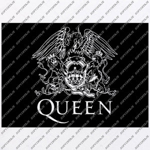 Queen Svg File- Queen Logo Original Svg Design-Clip art-Queen Vector Graphics-Svg For Cricut-Svg For Silhouette - SVG - EPS - PDF - DXF - PNG -JPG - AI