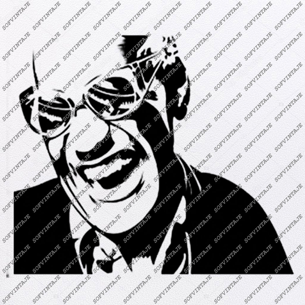 Ray Charles Svg File-Ray Charles-Svg Design-Clipart-Music Svg File-Singer soul-Blues Vector Graphics-Svg For Cricut-For Silhouette-SVG-EPS-PDF-DXF-PNG-JPG-AI