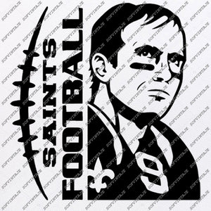 Saints Football Svg File - Football Svg - Saints Svg - Football Clip art - Top Player Svg - Svg For Cricut - Svg For Silhouette - SVG-EPS-PDF-DXF-PNG-JPG-AI