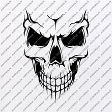 Load image into Gallery viewer, Skull Svg File-Skull Svg Design - Clipart-Tattoo Svg File-Skull Png-Vector Graphics-Svg For Cricut-For Silhouette-DXF-EPS