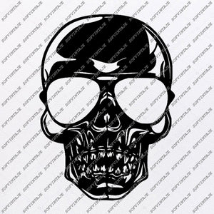 Harley Davidson Svg File-Skull Svg Design - Clipart-Motorcycles Svg File-Davidson Png-Skull For Tattoo-Skull Vector Graphics-Svg For Cricut-For Silhouette - SVG - EPS - PDF - DXF - PNG - JPG - AI