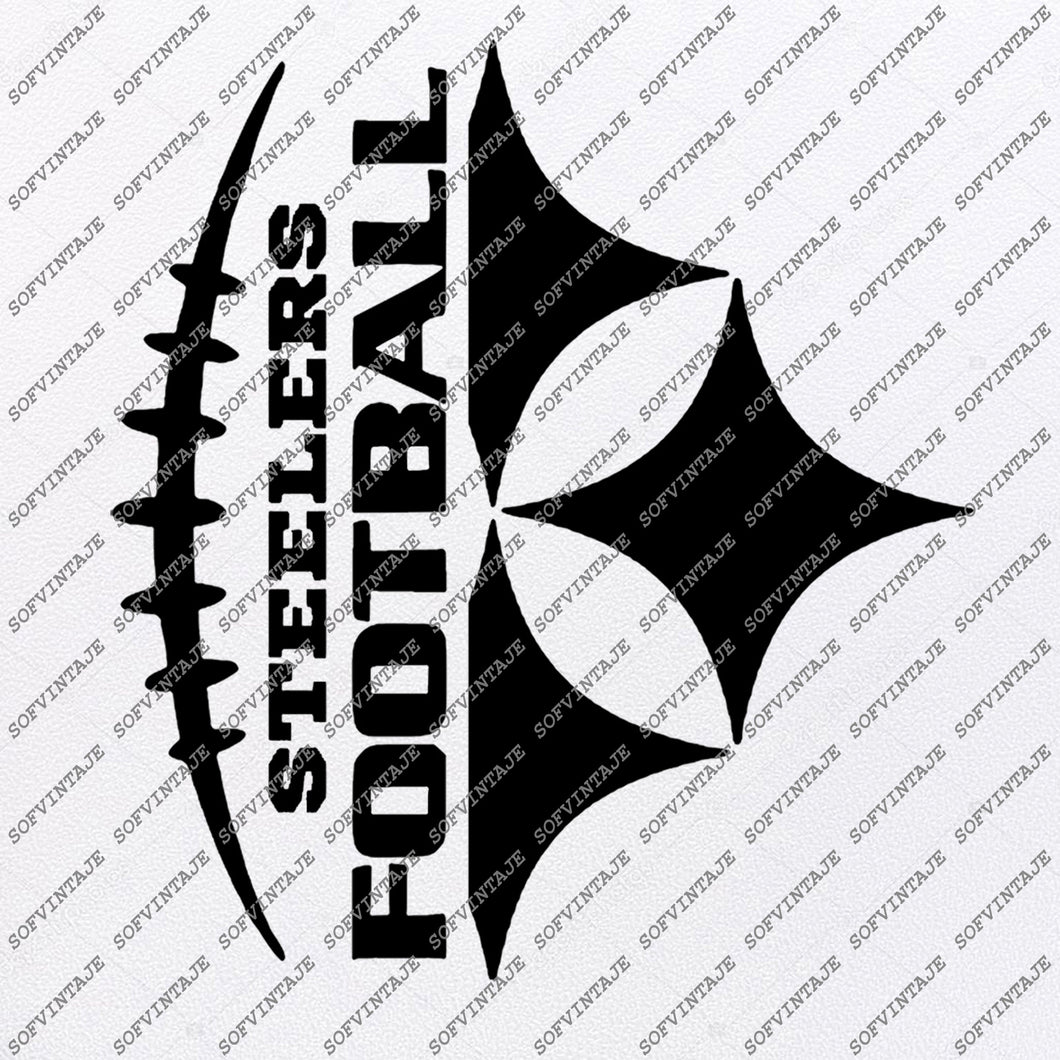 Football Svg File - Football Clip art - Football Stencil - Steelers Svg - Pittsburgh Steelers - Svg For Cricut - Svg For Silhouette -SVG - EPS - PDF - DXF- PNG- JPG - AI