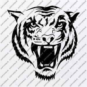 Tiger Svg File-Tiger Svg Original Design-Tiger Clip art-Animals Svg File-Tiger Vector Graphics-Svg For Cricut -For Silhouette - SVG - EPS - PDF - DXF - PNG - JPG - AI