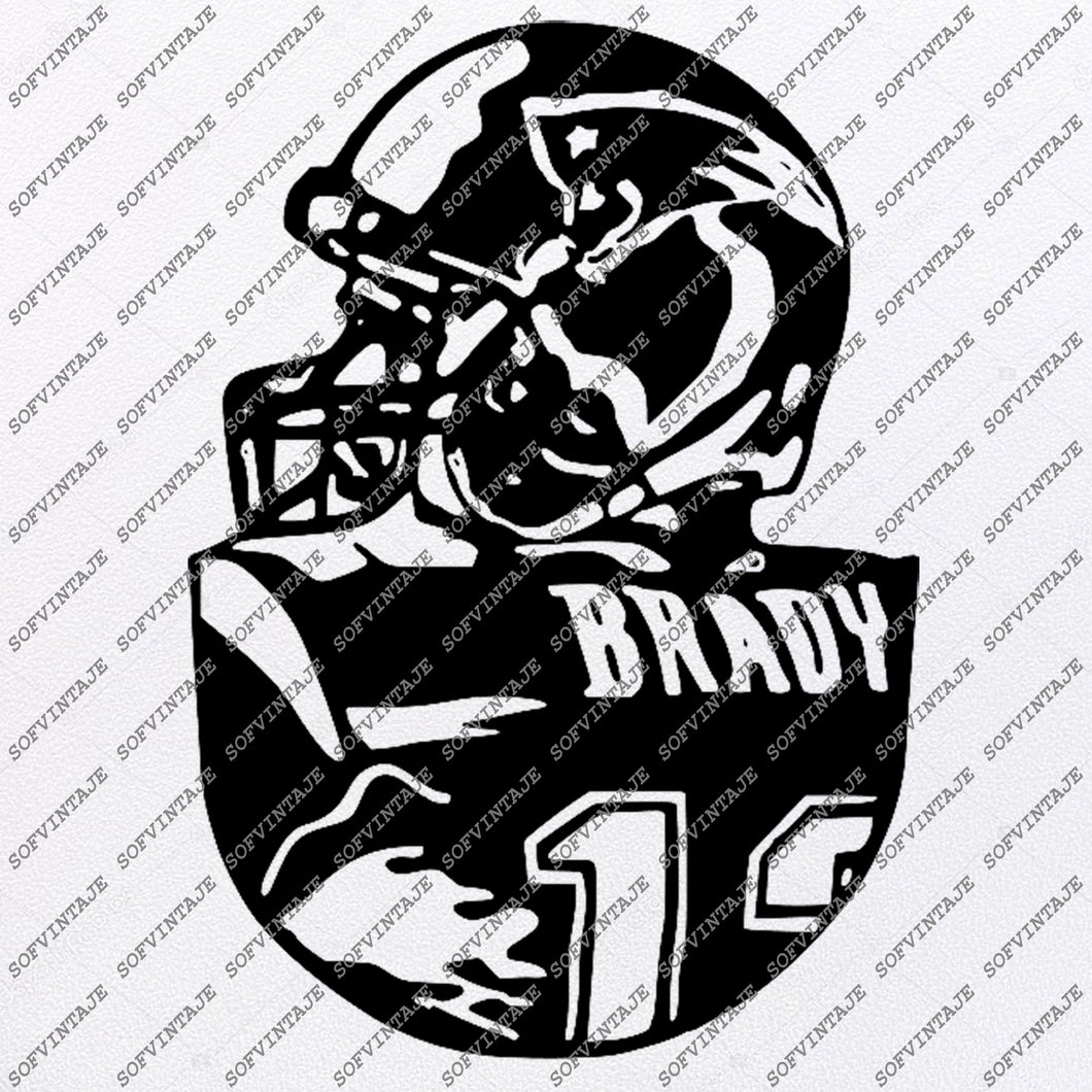 Patriots Football Svg - Tom Brady Svg - Football Svg - Football Clip art - Top Players Svg - Svg For Cricut - Svg For Silhouette - SVG - EPS - PDF - DXF - PNG - JPG - AI