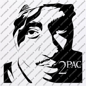 2pac Svg File-Tupac Shakur Svg Design-Clipart-Singer Hip Hop Svg File -Actor Png-Vector Graphics-Svg For Cricut-For Silhouette - SVG - EPS - PDF - DXF - PNG - JPG - AI