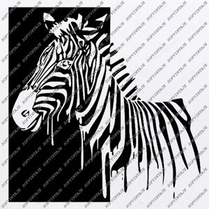 Zebra Horse Svg File-Wild Horse Original Svg Design-Animals Svg-Clip art-Horse Vector Graphics-Svg For Cricut-Svg For Silhouette-SVG-PNG-DXF-PDF-JPG-AI-EPS
