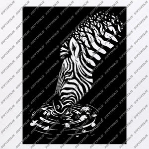 Zebra Horse-Zebra Svg File-Animals Svg File-Zebra For Tattoo-Zebra Horse Vector Graphics-Zebra Svg For Cricut-For Silhouette - SVG - EPS - PDF - DXF - PNG - JPG - AI
