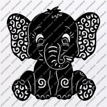 Load image into Gallery viewer, Elephant Svg File - Animals Svg - Animals Svg - Elephant Png - Vector Graphics - Svg For Cricut - Svg For Silhouette - SVG - EPS - PDF - DXF - PNG - JPG - AI
