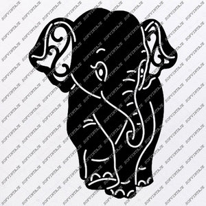 Elephant Svg File - Animals Svg - Animals Svg - Elephant Png - Vector Graphics - Svg For Cricut - Svg For Silhouette - SVG - EPS - PDF - DXF - PNG - JPG - AI