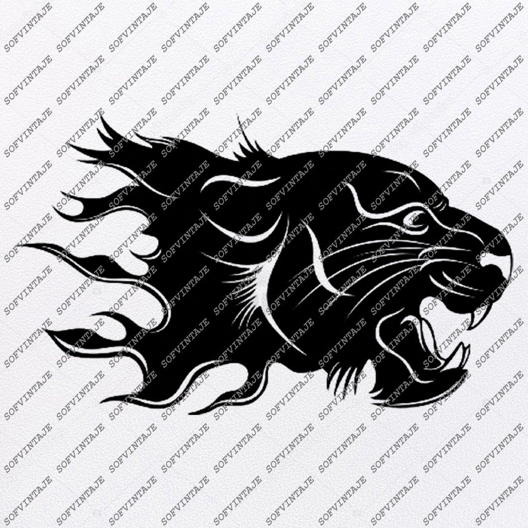 Panther Svg File-Panther Original Svg Design-Animals Svg-Clip art-Panther Vector Graphics-Svg For Cricut-Svg For Silhouette-DXF-EPS