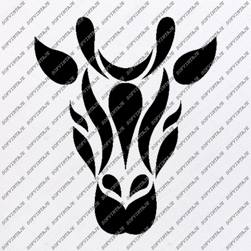 Giraffe Svg File-Giraffe Original Svg Design-Animals Svg-Clip art-Vector Graphics-Svg For Cricut-Svg For Silhouette - SVG - EPS - PDF - DXF - PNG - JPG - AI