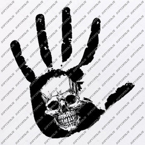 Skull in Hand Svg File-Skull Svg Design - Clipart-Tattoo Svg File-Skull Png-Vector Graphics-Svg For Cricut-For Silhouette - SVG - EPS - PDF - DXF - PNG - JPG - AI