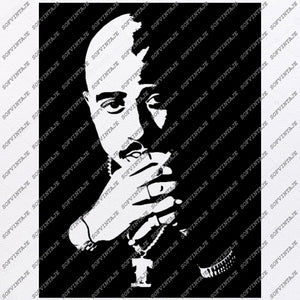 2pac Svg File-Tupac Shakur Svg Design-Clipart-Singer Hip Hop Svg File -Actor Png-Vector Graphics-Svg For Cricut-For Silhouette-SVG-EPS-PDF-DXF-PNG-JPG-AI