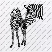 Load image into Gallery viewer, Zebra Horse Svg File-Wild Horse Original Svg Design-Animals Svg-Clip art-Horse Vector Graphics-Svg For Cricut-Svg For Silhouette - SVG - EPS - PDF - DXF - PNG - JPG - AI