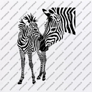 Zebra Horse Svg File-Wild Horse Original Svg Design-Animals Svg-Clip art-Horse Vector Graphics-Svg For Cricut-Svg For Silhouette - SVG - EPS - PDF - DXF - PNG - JPG - AI