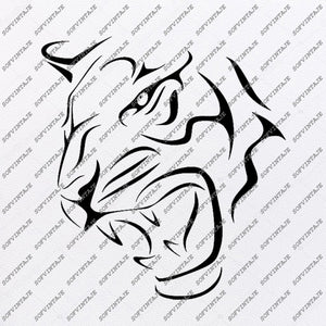 Tiger Svg File - Tiger Original Svg Design - Animals Svg - Clip art - Tiger Vector Graphics- Svg For Cricut - Svg For Silhouette - SVG - EPS - PDF - DXF - PNG - JPG - AI