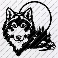 Load image into Gallery viewer, Wolf Svg Files - Wolf Silhouette - Animal Svg - Wolf Png - Clipart - Svg Original Design - Svg For Cricut - Svg For Silhouette - SVG - EPS - PDF - DXF - PNG - JPG - AI