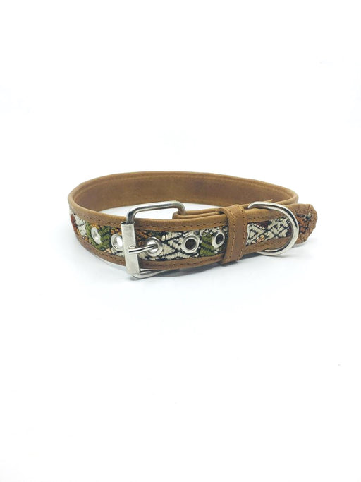 Extra Large Brown Leather Huipil Collar