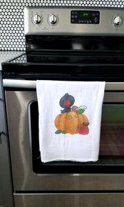 Making Halloween Kitchen Towels with a Heat Press