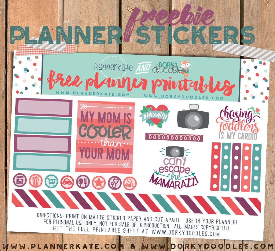 Free Mother's Day Planner Stickers