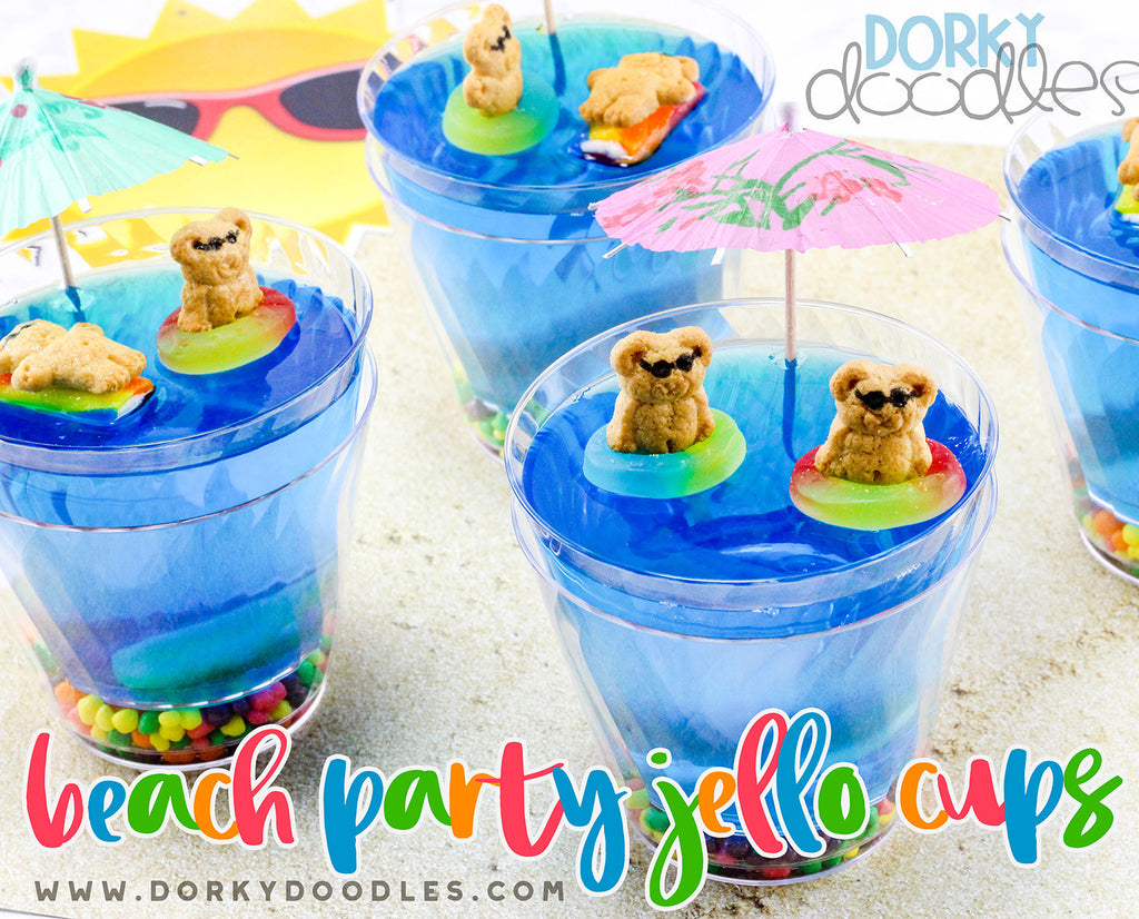 Beach Party Jello Cup Snacks