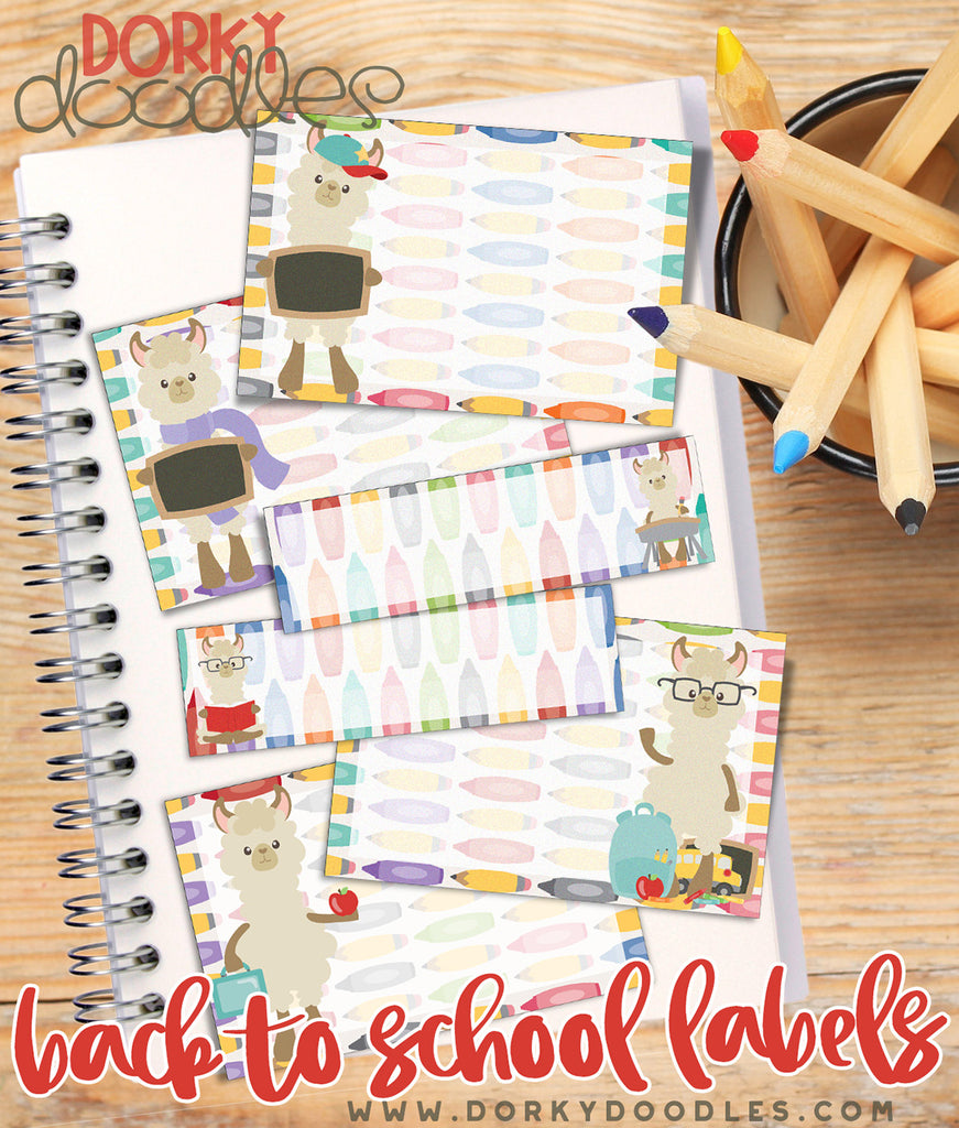 Back to School Labels Printable