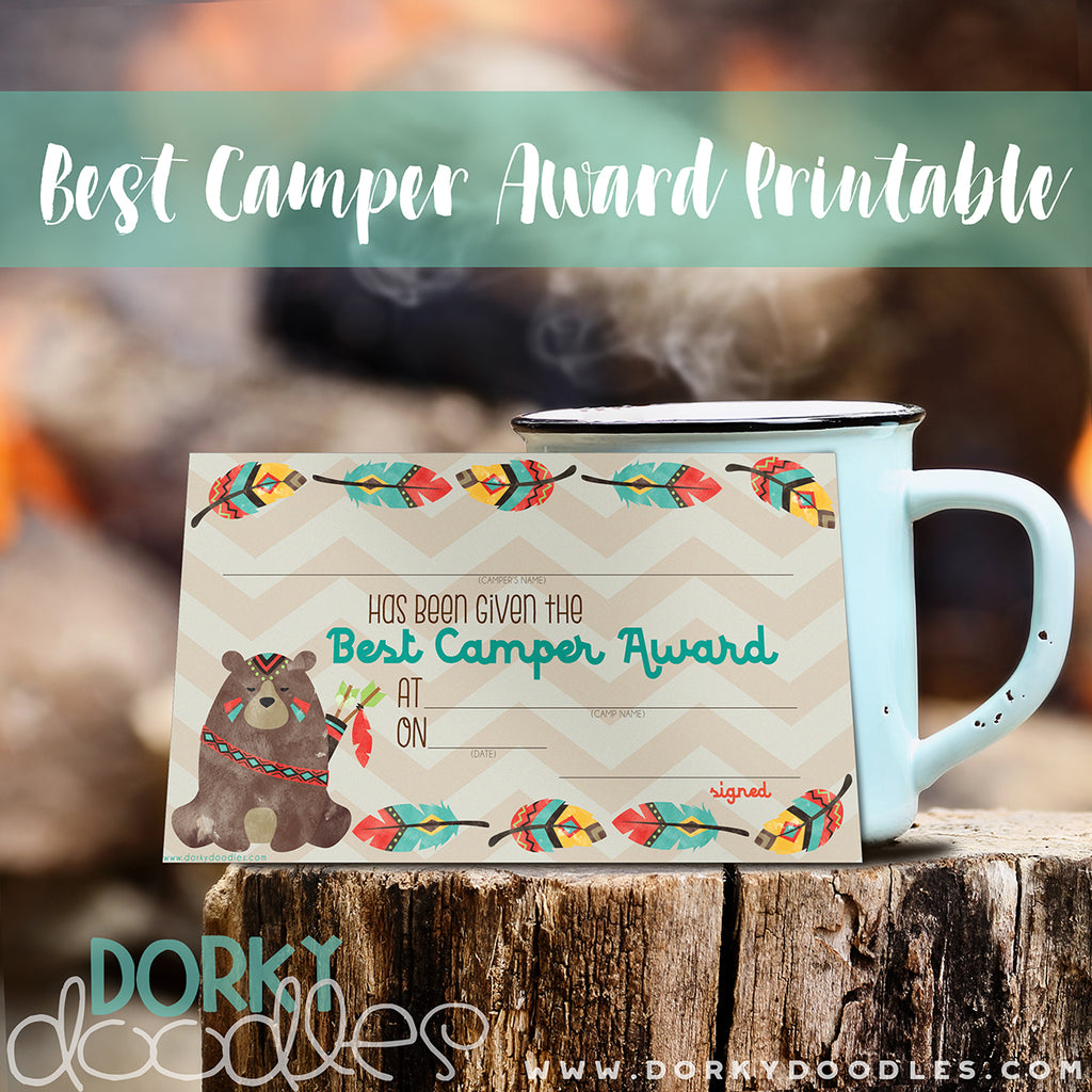 Summer Camp Award Free Printable