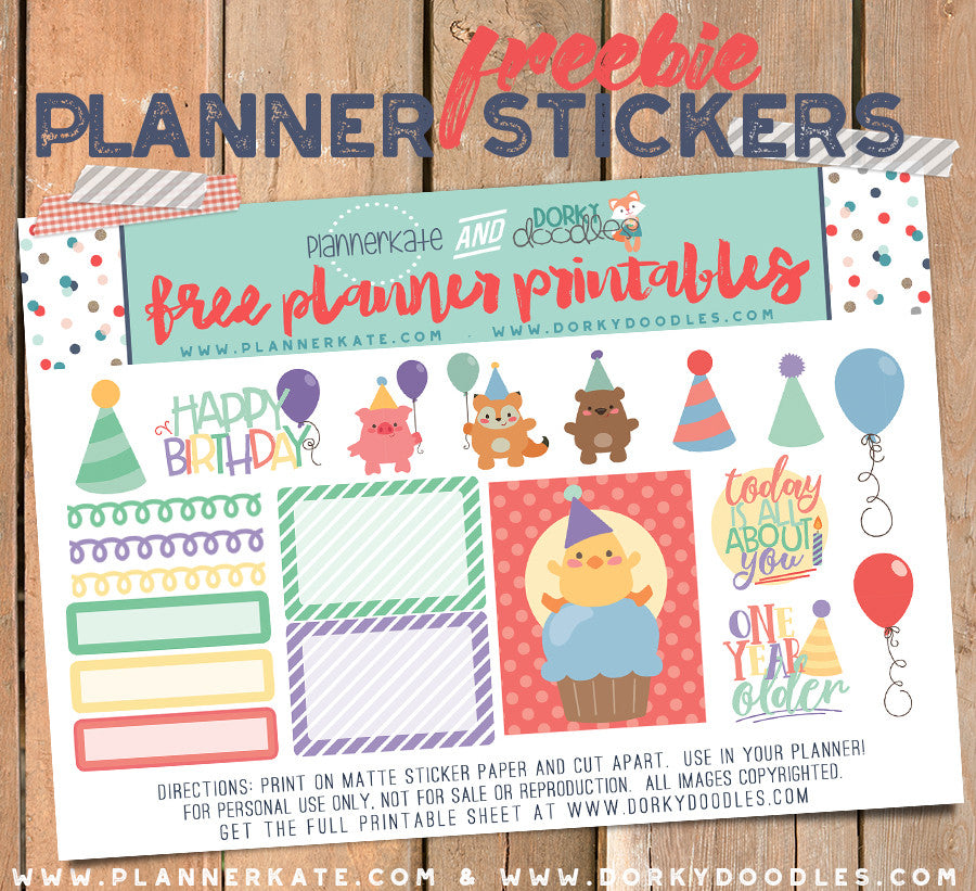 Birthday Planner Sticker Freebie
