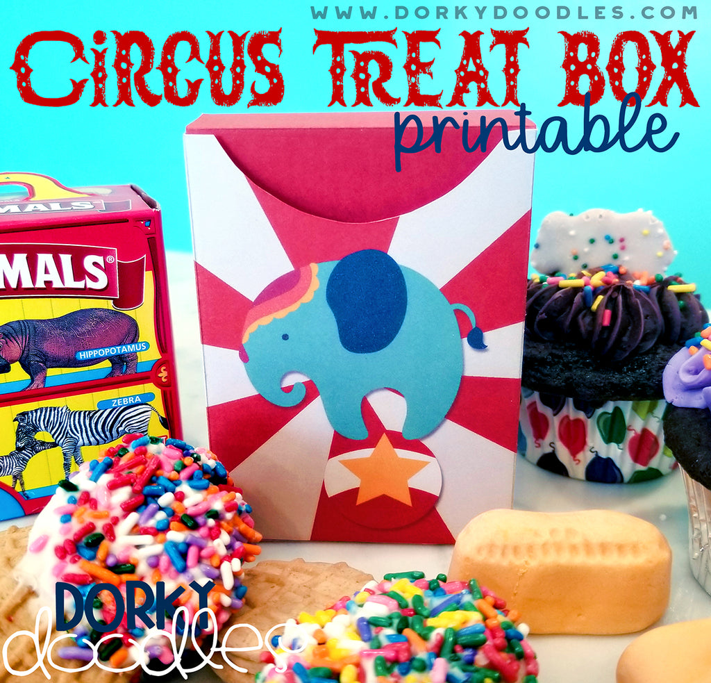 Circus Party Printable Treat Box