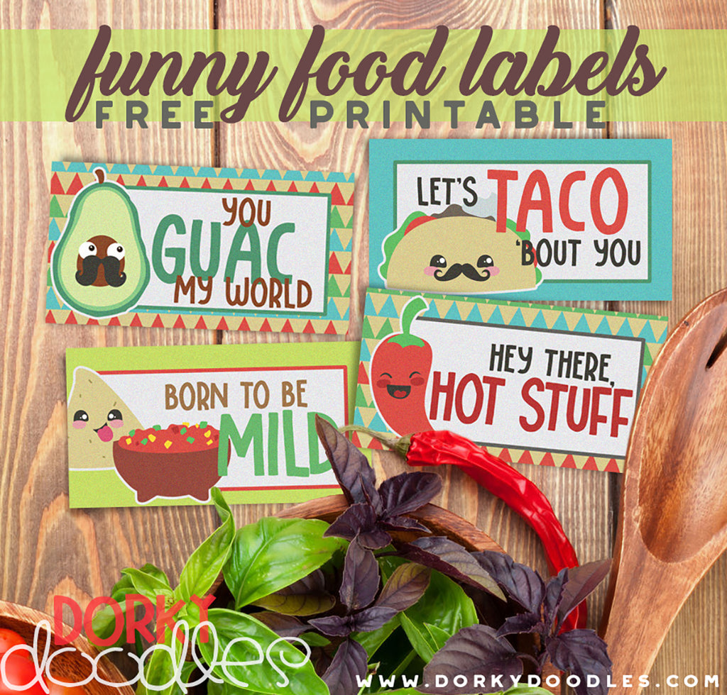 Funny Food Labels for Cinco de Mayo