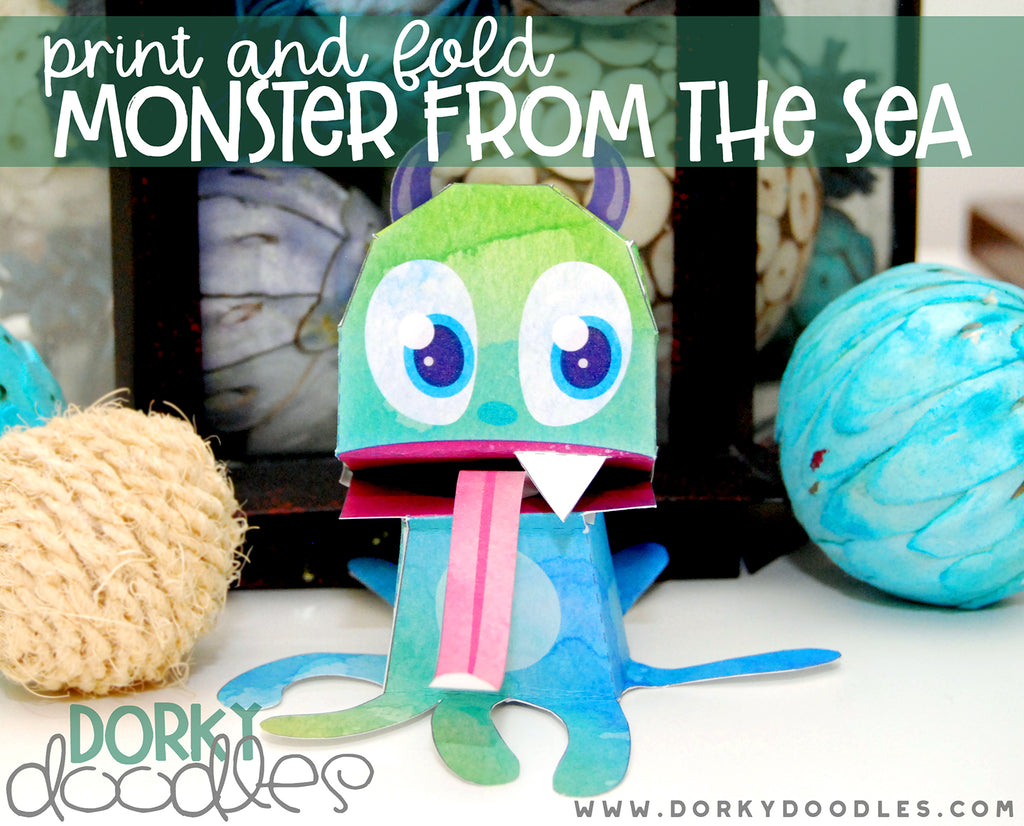 Monster from the Sea Printable Toy