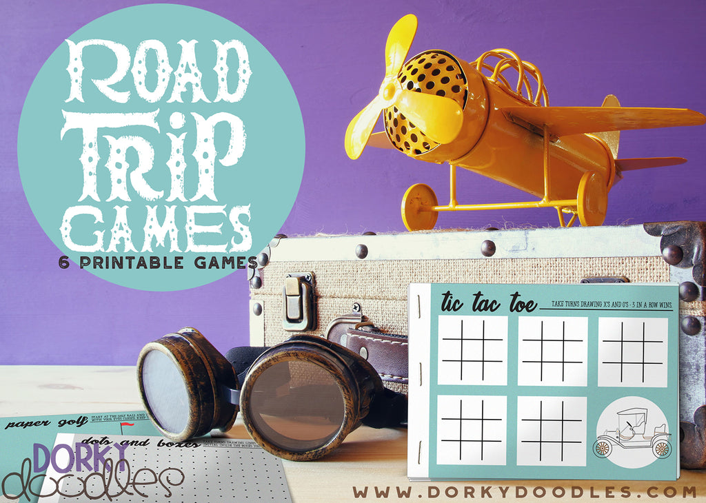 Six Fun Road Trip Games for Kids - Free Printable