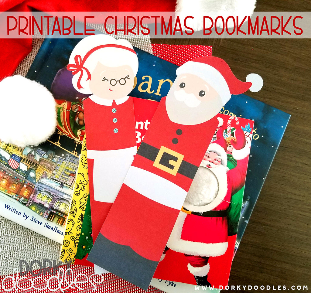 Free Santa Bookmarks Printable