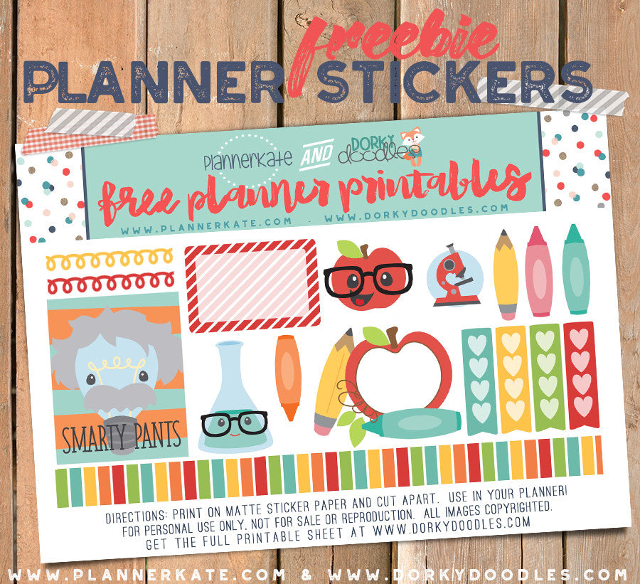 Back to School Planner Stickers Freebie
