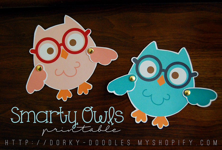 Back to School Owl Printables