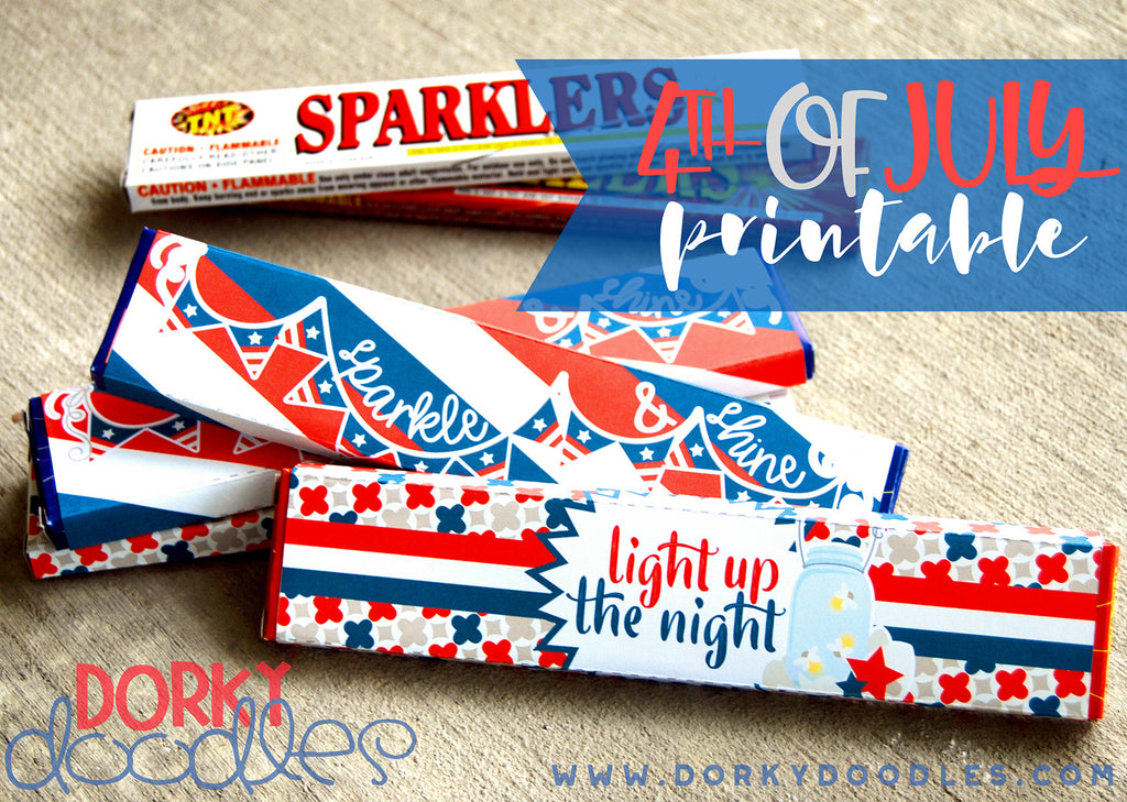 4th of July Sparkler Printable