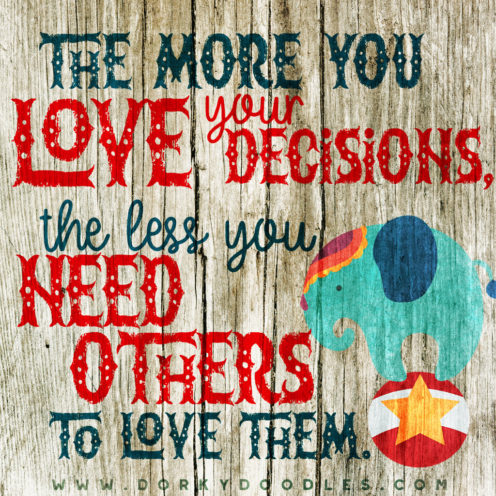 Motivational Quotes - Love your Decisions
