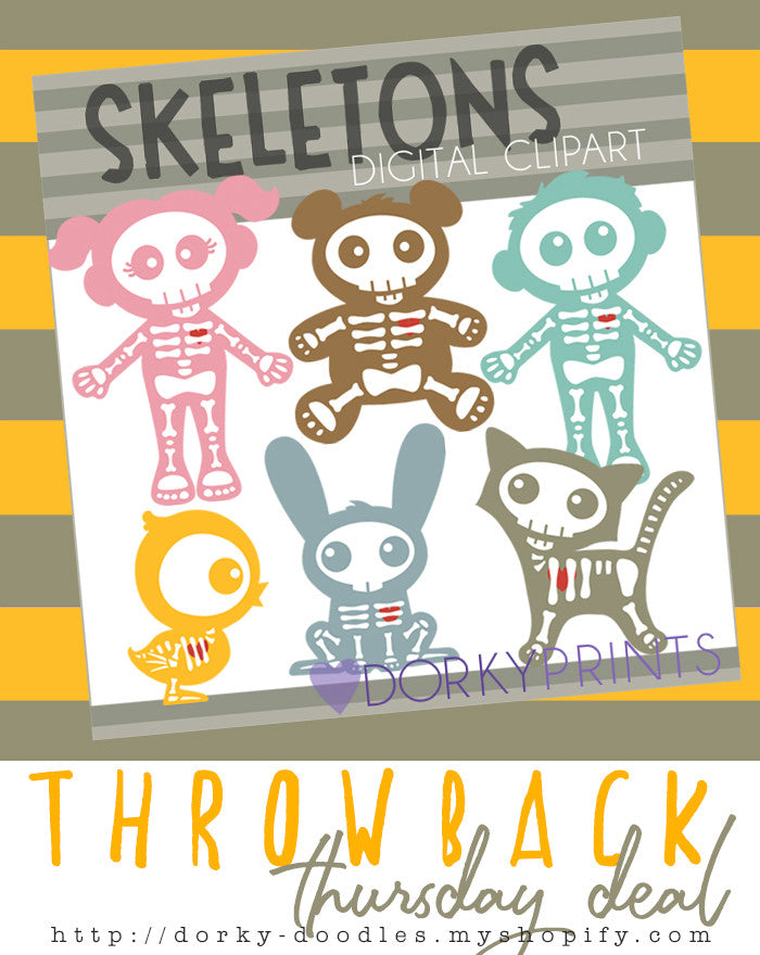 Throwback Thursday Deal: Cute Skeletons