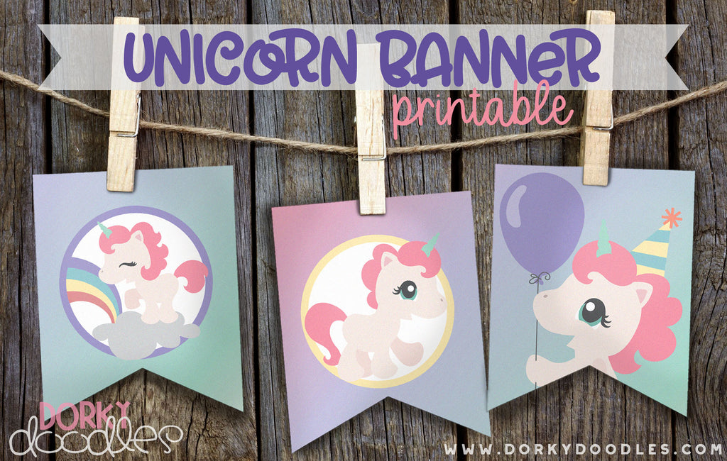 Unicorn Party Banner - Free Printable