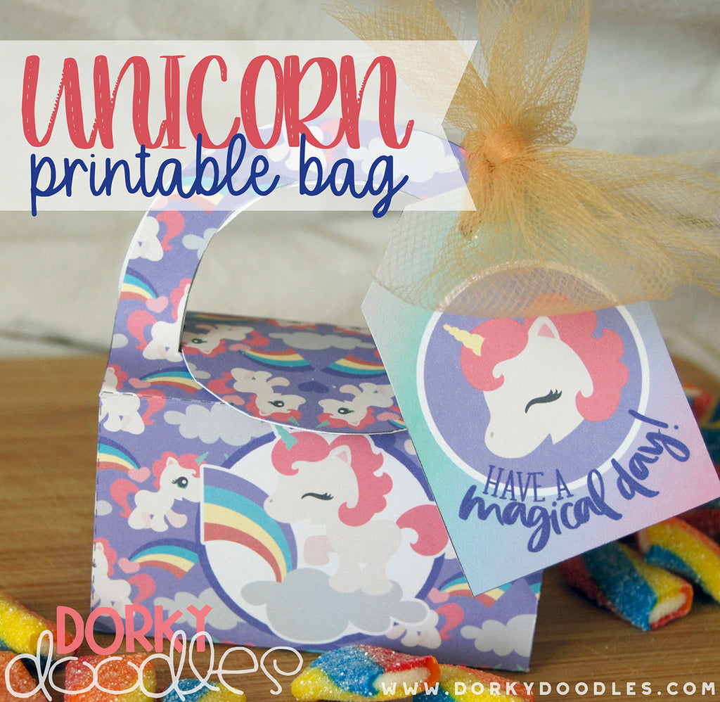 Unicorn Printable Treat Bag