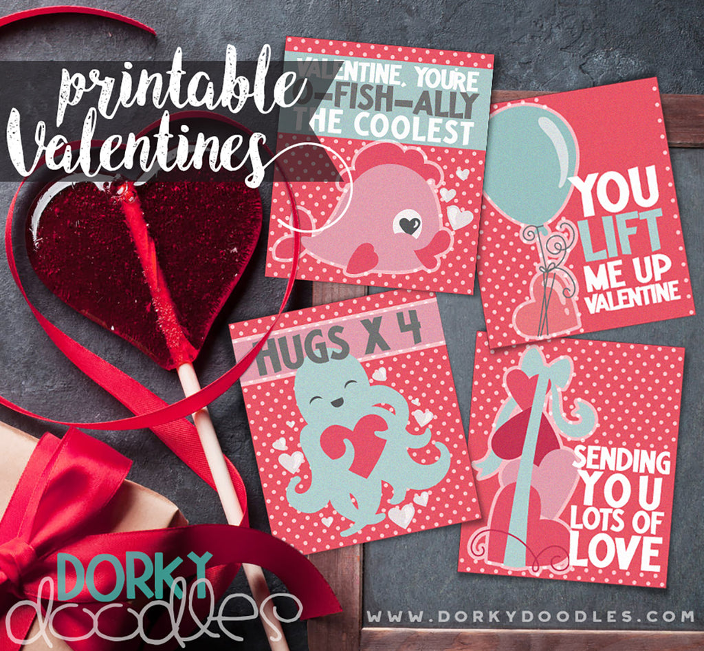 Cute Printable Valentine's for Kids