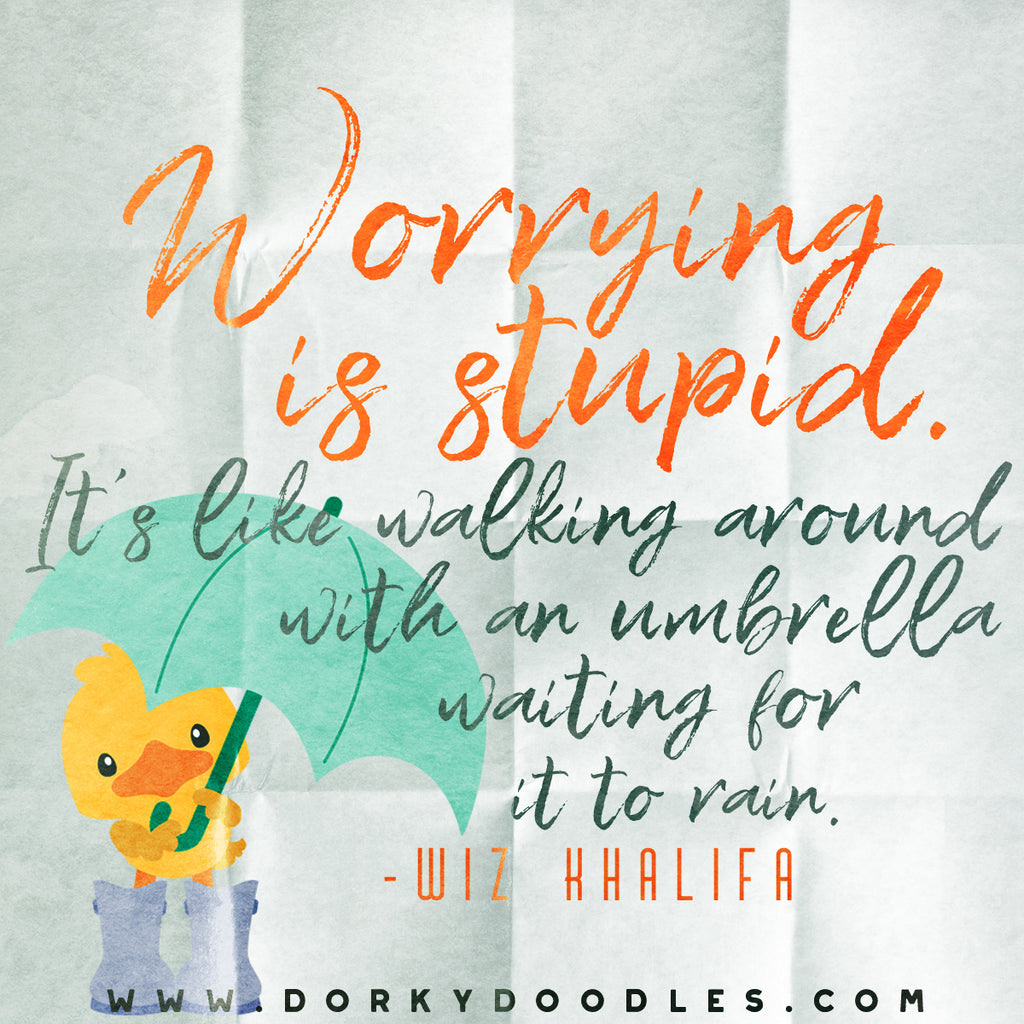 Motivational Quotes - Worrying is Stupid
