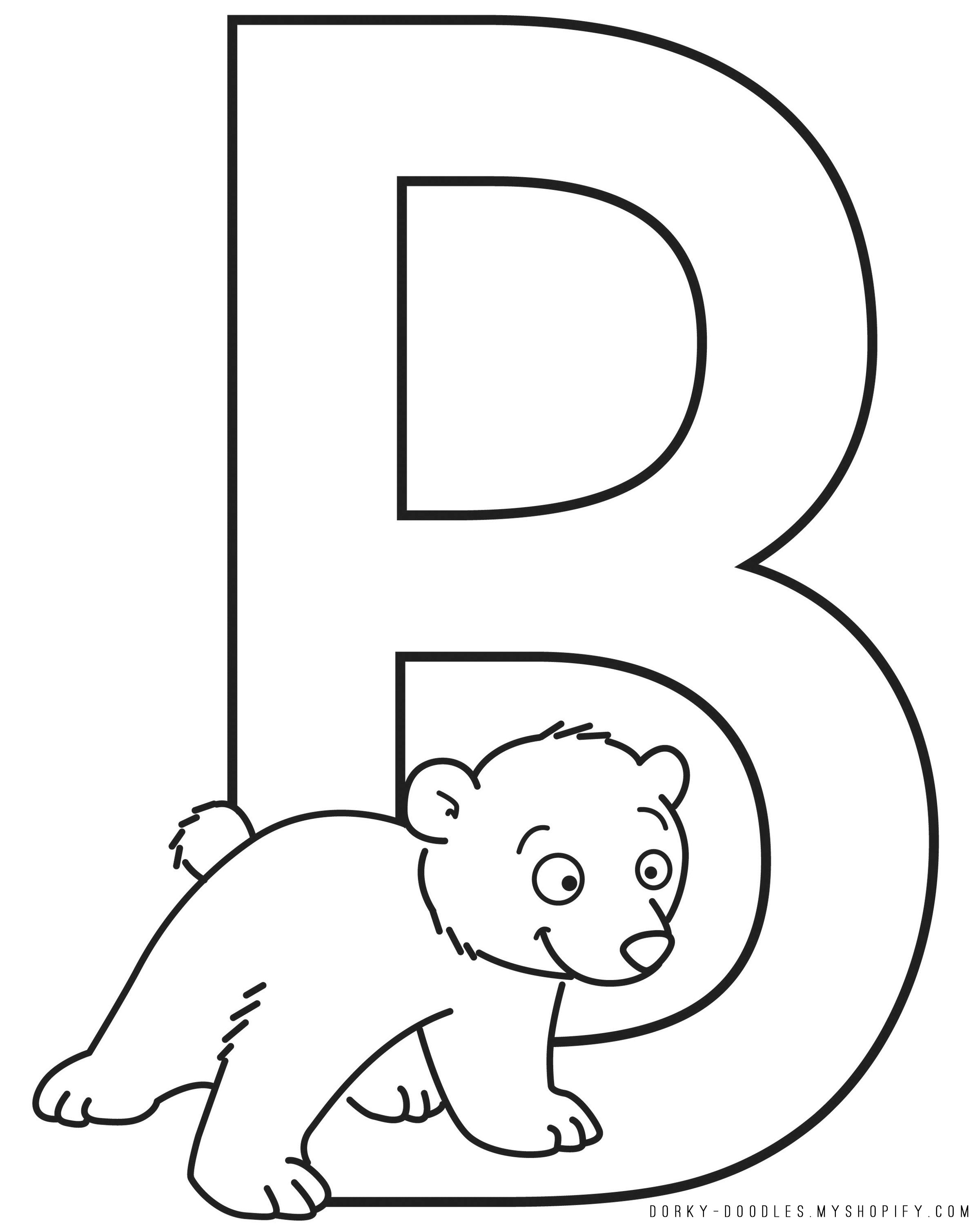 To Get The Letter B Coloring Page Right Click On Image Below
