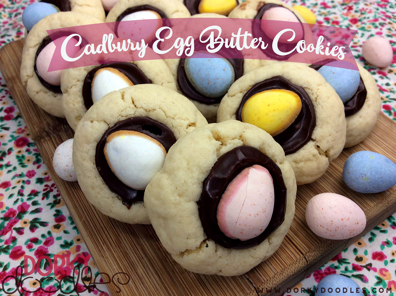 Mini Cadbury Egg Cookie Recipe